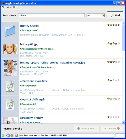 Puggle Desktop Search 0.60 full